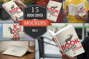 Paperback Book Cover Mockups Vol. 2