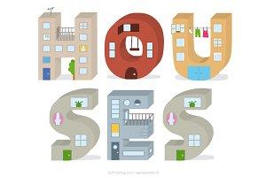 Houses Alphabet
