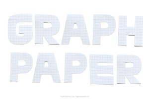 Graph Paper handmade letters