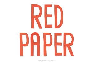 Red Paper handmade letters