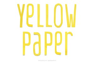 Yellow Paper handmade letters
