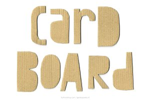 Cardboard handmade letters