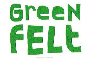 Green Felt handmade letters