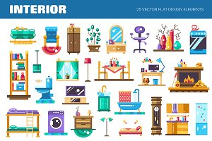 Interior - 25 Icons Set
