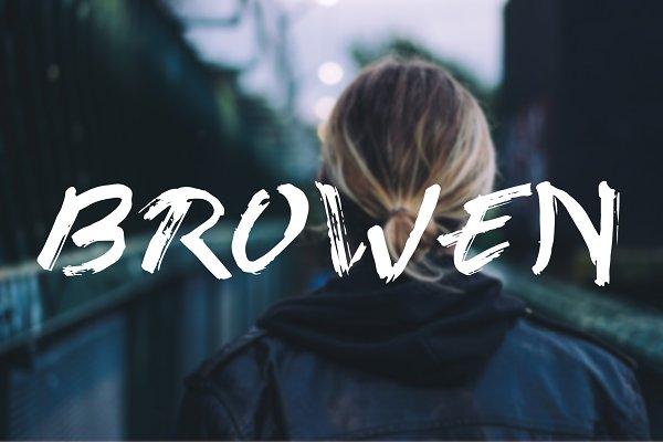 Best browen font Vector