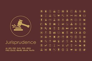 110 Jurisprudence simple icons