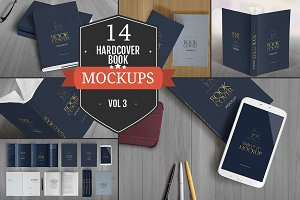 Elegant Hardcover Book Mockups Vol.3