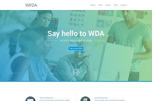 WDA - One Page Wordpress Theme