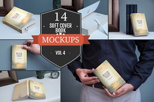 Softcover Book Mockups Vol. 4