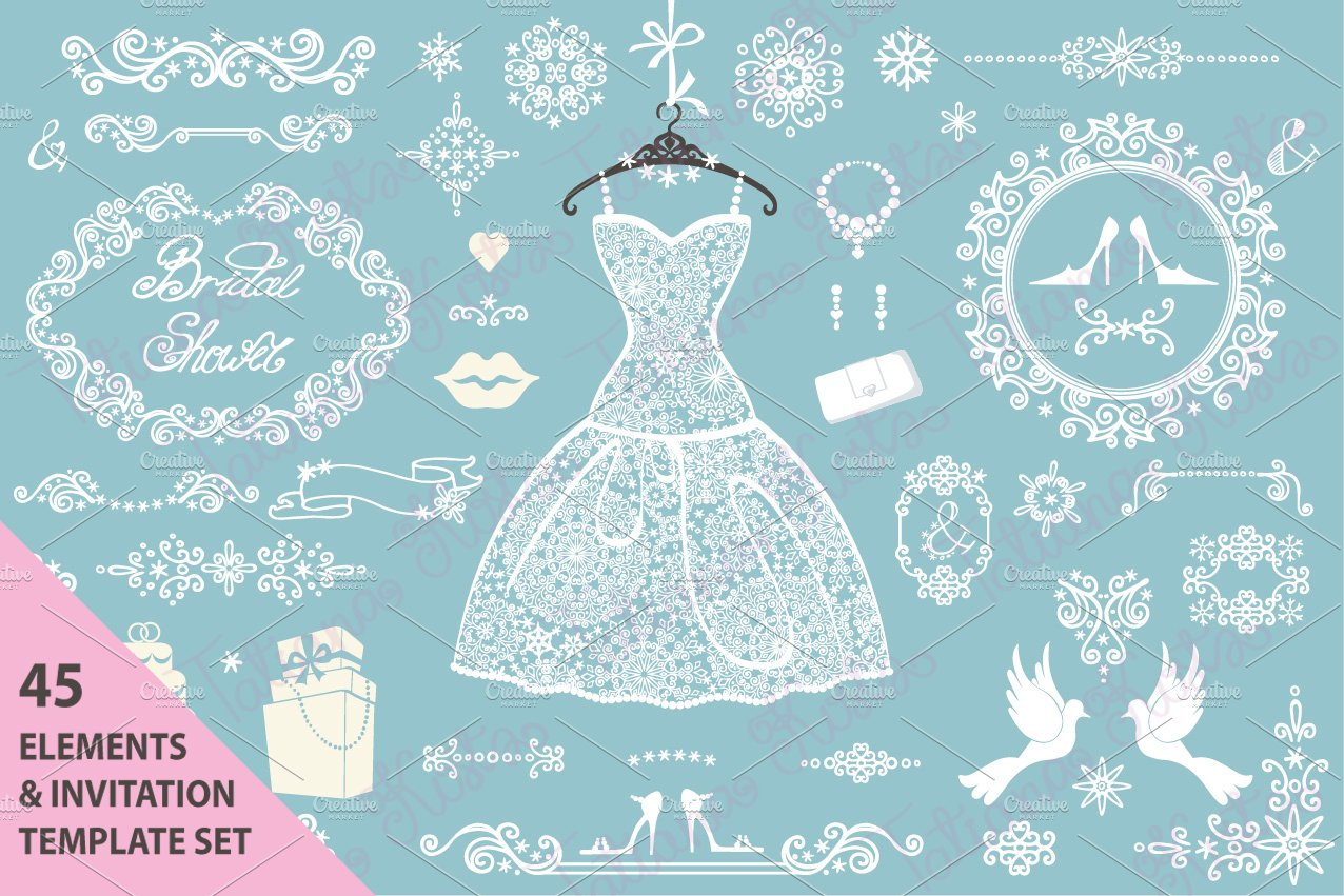 Winter weddingidal shower invitation templates creative market filmwisefo