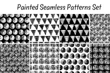 10 seamless patterns brush strokes