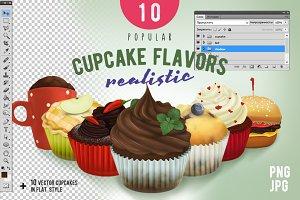 10 Popular Cupcake flavors.