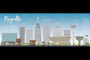 Riyadh skyline with grey buildings