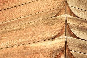Old wooden facade
