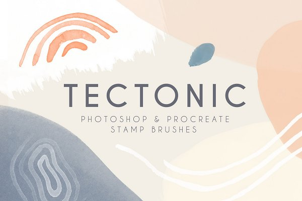 Tectonic Photoshop Procreate Brushes