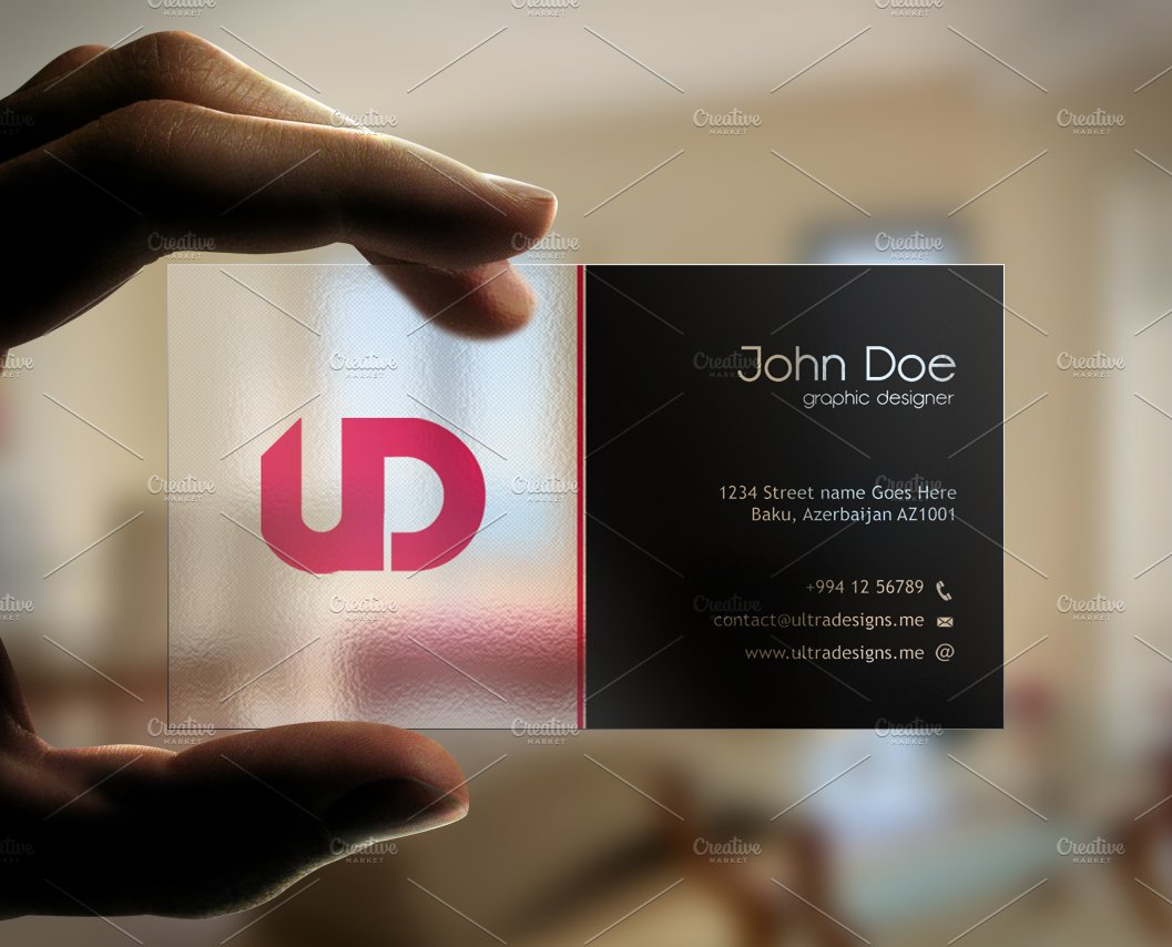 Creative Transparent Business Card ~ Business Card Templates ...