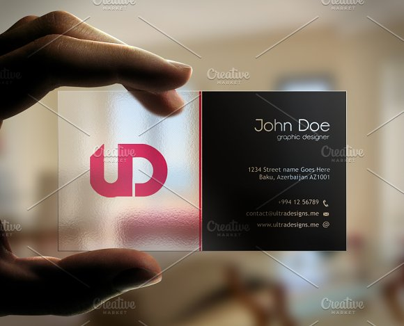 Creative transparent business card business card templates creative transparent business card business card templates creative market fbccfo Image collections