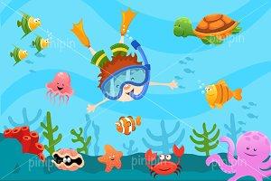 Diving Kid
