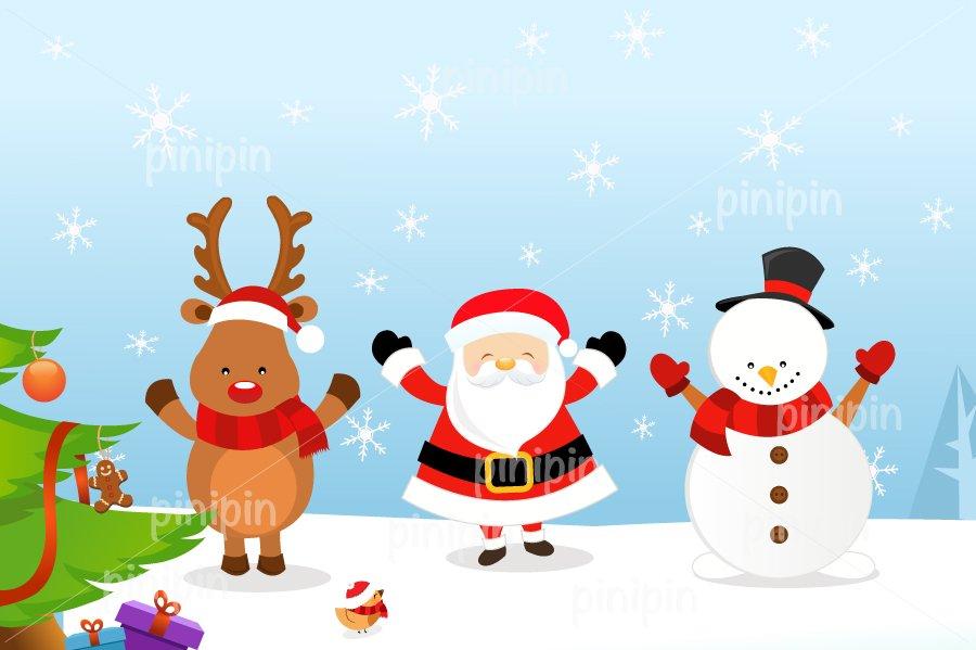 santa reindeer snowman illustrations creative market - Snowman Santa