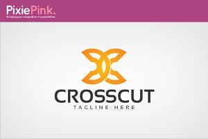 Cross Cut Logo Template