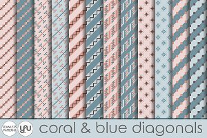 Geometric digital paper: DIAGONALS