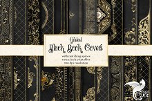 Gilded Black Book Covers
