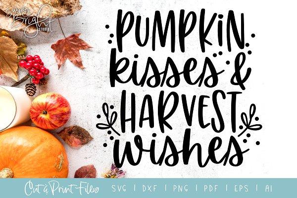 Pumpkin Kisses Cut/Print FIiles