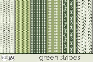 Green digital paper: STRIPES