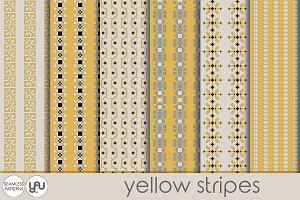 YELLOW digital paper: STRIPES