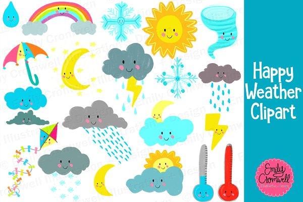 Cute Weather Digital Clipart