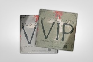 Halloween VIP PASS square card