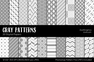 Gray Digital Papers