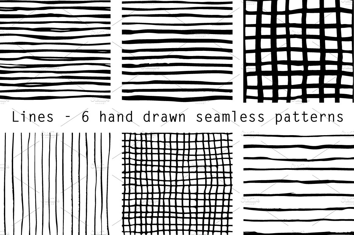 hand drawn lines patterns graphic patterns creative market