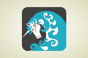 Icon of magic mythical unicorn