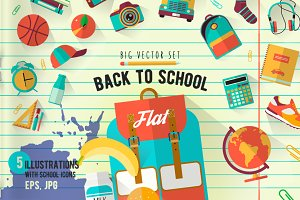 Back to school. Big vector set.