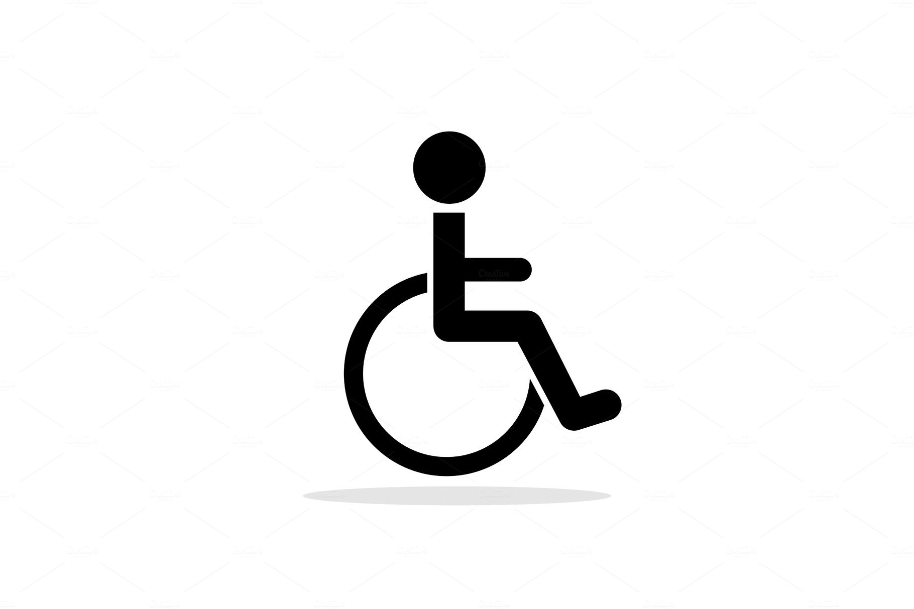 Disabled Toilet Icon Custom Designed Graphic Objects Creative