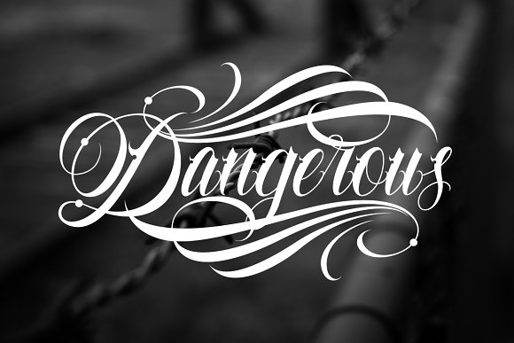Familia Tattoo Lettering Font in Script Fonts - product preview 1
