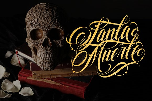 Familia Tattoo Lettering Font in Script Fonts - product preview 2
