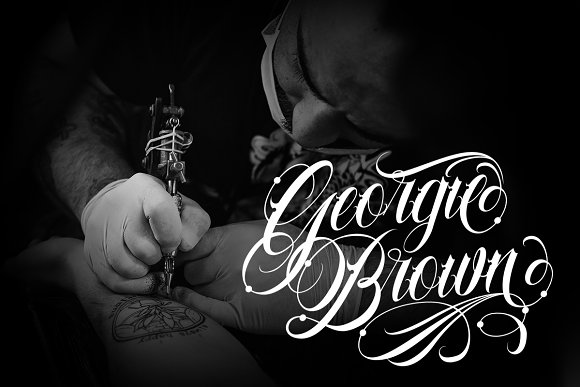 Familia Tattoo Lettering Font in Script Fonts - product preview 3