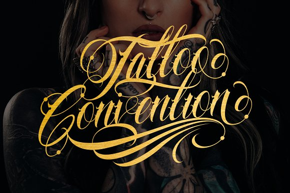 Familia Tattoo Lettering Font in Script Fonts - product preview 4