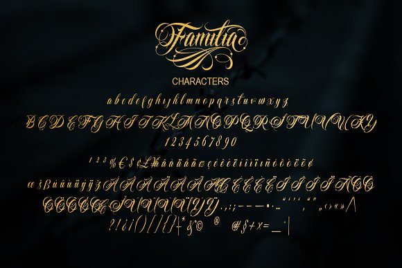 Familia Tattoo Lettering Font in Script Fonts - product preview 6