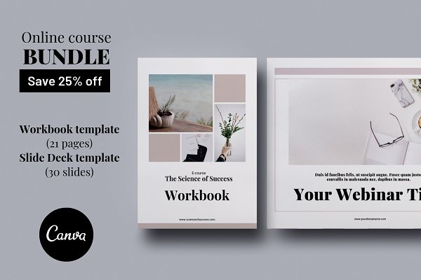 Online course BUNDLE Canva templates