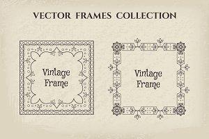 17 Vintage Frames Set