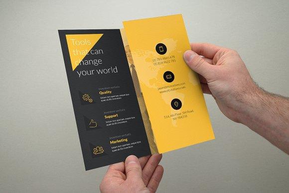 creative yellow trifold brochure brochure templates creative market