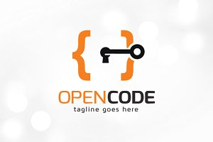 Open Code Logo Template