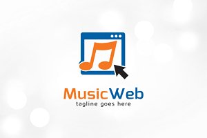 Music Website Logo Template