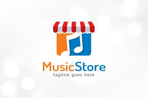 Music Store Logo Template