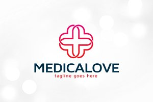 Medical Love Logo Template