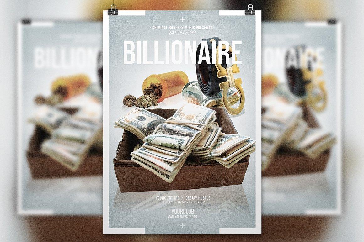 Billionaire | Hip-Hop Flyer Template ~ Flyer Templates ~ Creative Market