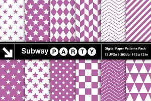 Purple Orchid Geometric Papers